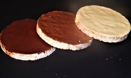 Bezlepkové rýžové chlebíčky s čokoládou
