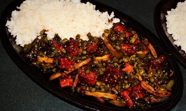 Smažené tofu se zeleninou