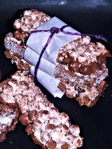 Tyčinky z čokoládových kuliček