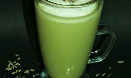 Matcha laté s levandulí (veganská verze)