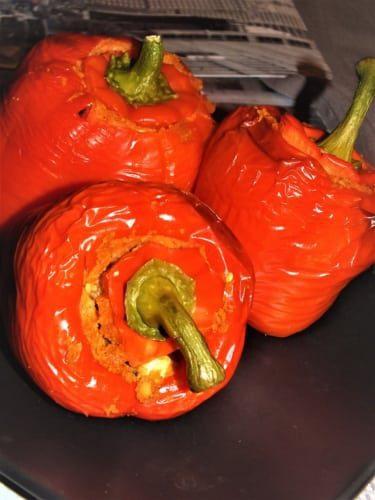 Plněné papriky kuskusem