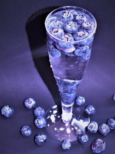 Ovocná voda: borůvka