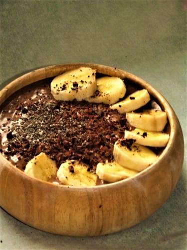 Arašídovo – čokoládová smoothie kaše