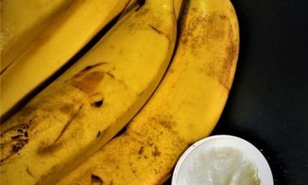 Banánová pleťová maska s kurkumou