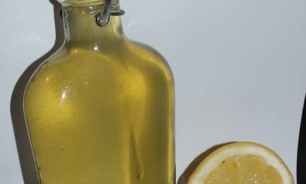 Bazalkový sirup s citrónem