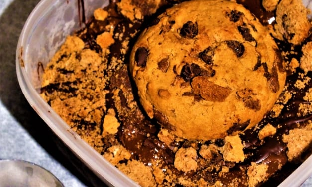 Čokoládová zmrzlina se sušenkami