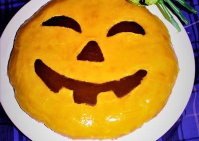 Haloweenský mrkvový dort
