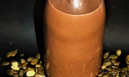 Kakaové dýňové mléko