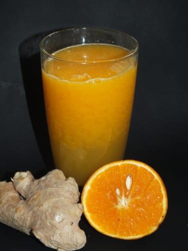 Pomerančový džus se zázvorem
