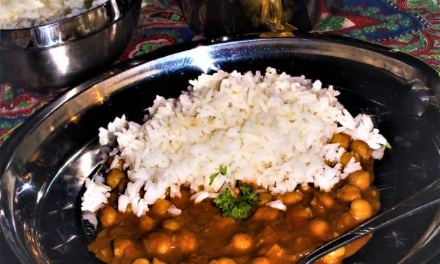 Cizrnová tikka masala (indické jídlo)