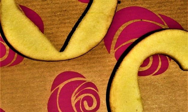 Valentýnská srdíčka z jablek