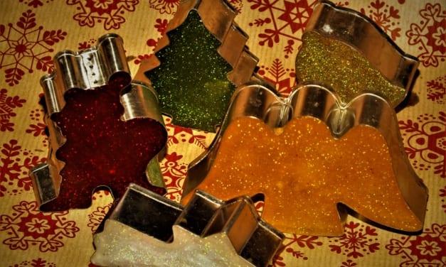 Vánoční třpytivá mýdla