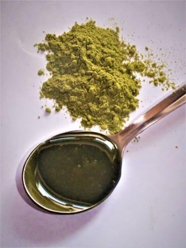 Přírodní zelené barvivo- gelové