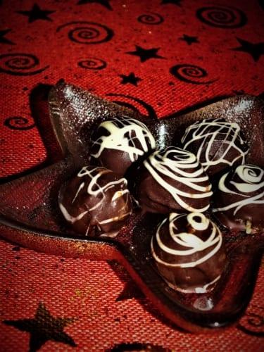 Arašídové kuličky v čokoládě