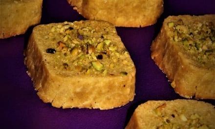 Cizrnové sušenky s pistáciemi