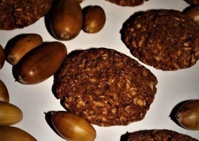 ovesné žaludové sušenky