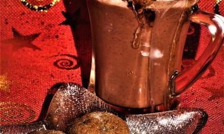 Horká čokoláda s perníkovým sirupem