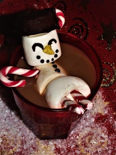 Sněhulák v horké čokoládě