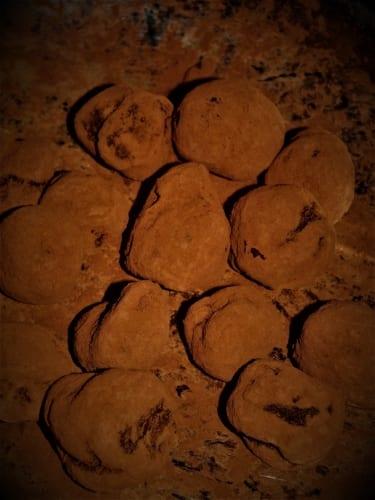 čokoládové lanýže (truffles)