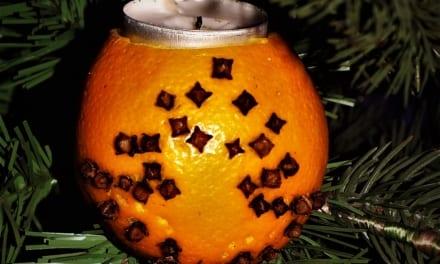 Vánoční pomerančová svíčka