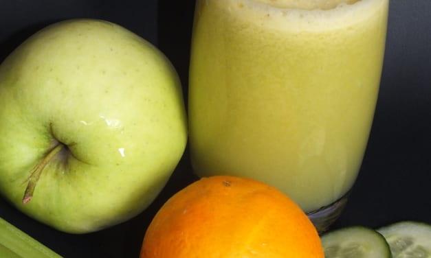 Džus celer, pomeranč, okurka a jablko