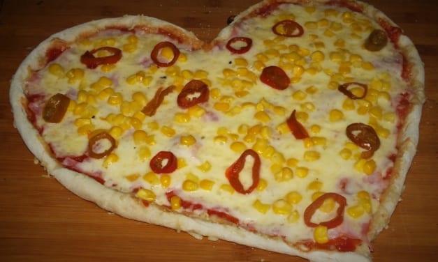 Valentýnská pizza