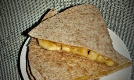 Sladká snídaňová quesadilla