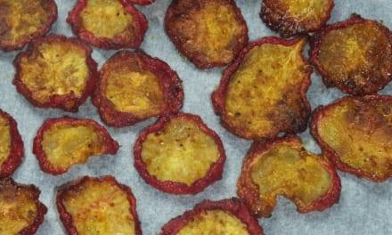 Kořeněné ředkvičkové chipsy