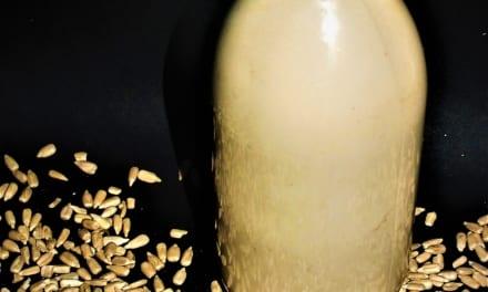 Pražené slunečnicové mléko