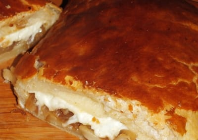 Žampionový koláč z listového těsta