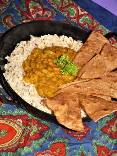 Čapatí chipsy (indické)