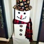 Vánoční dekorace – sněhulák