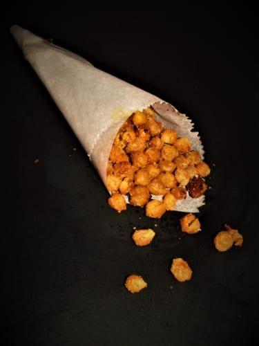 Pečená cizrna s příchutí sýra