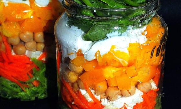 Salát ve skle