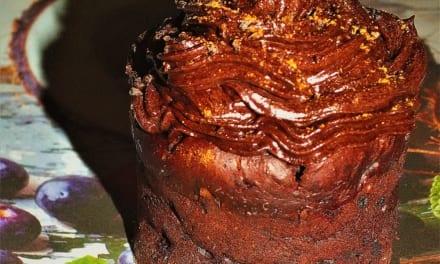 Avokádové muffiny s čoko polevou (vegan)