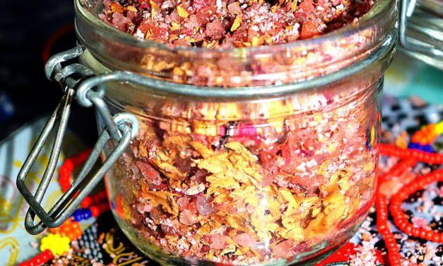 Koupelová sůl s růží a levandulí