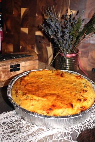 Slaný bramborový dort (nádivka)