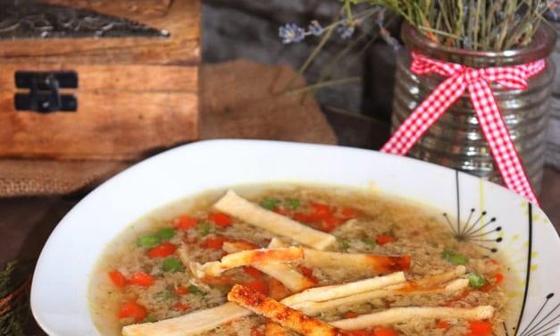 Zeleninová polévka s vaječnou sedlinou
