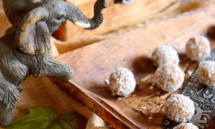 Kokosové kuličky z tsampy