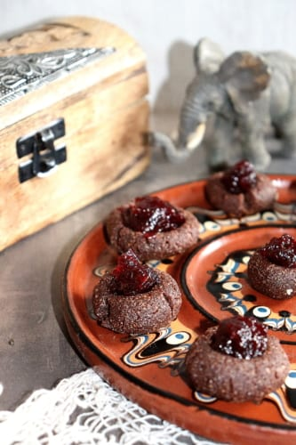 Nepečené koláčky s povidly (veganské)