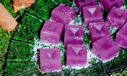Mýdlové kostky s cukrem a levandulí