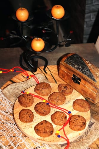 Tsampa cookies s čokoládou