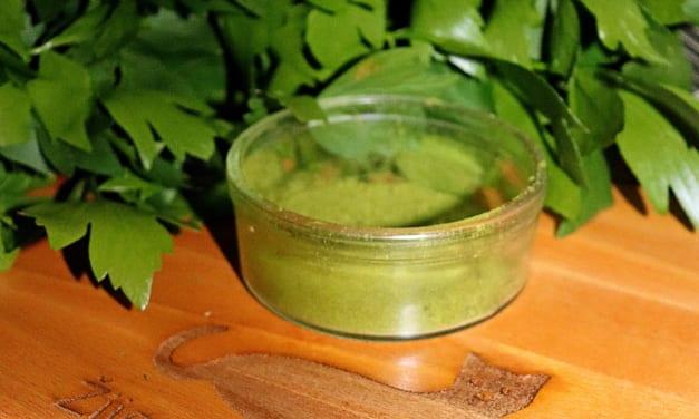 Koření do polévky: libečkový prášek