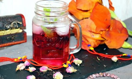 Ledový ibiškový čaj (=Egyptský nápoj Karkadé)