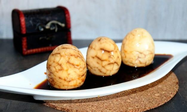 Čínská mramorovaná vajíčka – Tea egg (Čína)