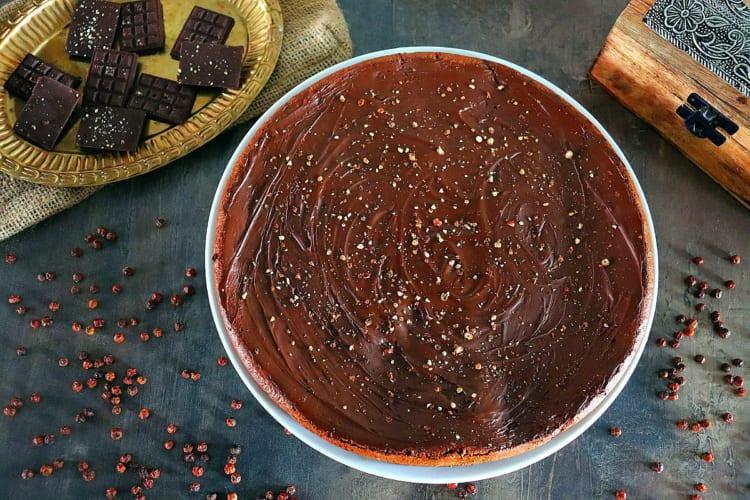 Brownies dort s kampotským pepřem