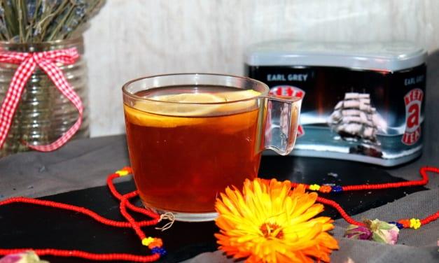 Čaj Earl grey s citrónem