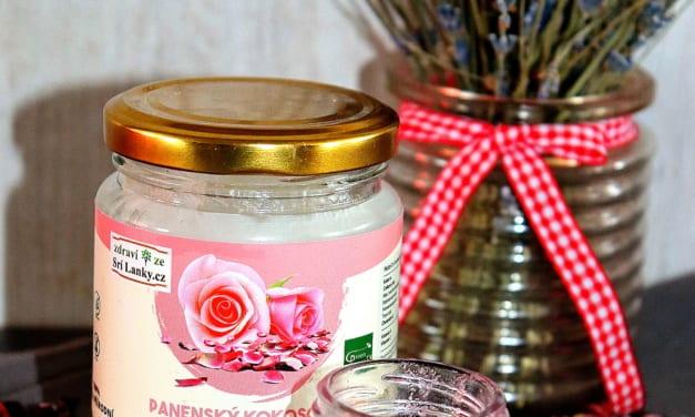 Peeling s kokosový olejem a růží