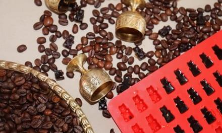 Kávové želé bonbony (na klouby, vlasy a nehty)