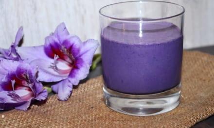 Borůvkový koktejl s ovesnou vlákninou
